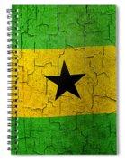Grunge Sao Tome And Principe Flag Spiral Notebook