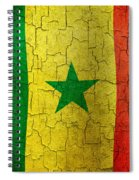 Grunge Senegal Flag Spiral Notebook