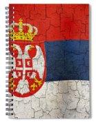 Grunge Serbia Flag Spiral Notebook