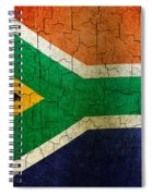 Grunge South Africa Flag Spiral Notebook
