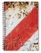 Grunge Stripe Background Spiral Notebook