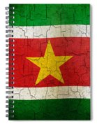 Grunge Suriname Flag Spiral Notebook