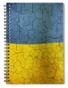 Grunge Ukraine Flag Spiral Notebook