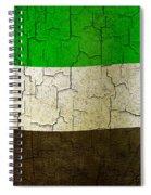 Grunge United Arab Emirates Flag Spiral Notebook