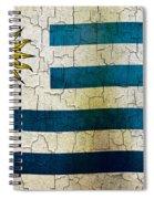 Grunge Uruguay Flag Spiral Notebook