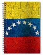 Grunge Venezuela Flag Spiral Notebook