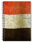 Grunge Yemen Flag Spiral Notebook