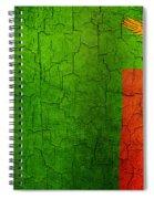 Grunge Zambia Flag Spiral Notebook