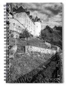 Gruyeres Castle Bw Spiral Notebook