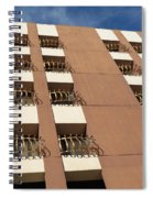 Guardrails And Stripes Spiral Notebook