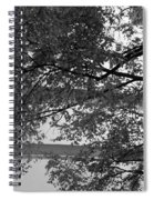 Guggenheim And Trees In Black And White Spiral Notebook