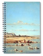 Guigou's Washerwomen On The Banks Of The Durance Spiral Notebook