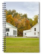 Guildhall Village Historic District In Autumn Vermont Spiral Notebook