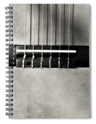 Guitar Abstract In Monochrome Spiral Notebook