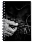 Guitar And Hand Bw Spiral Notebook