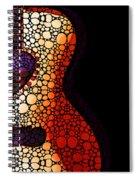 Guitar Art - She Waits Spiral Notebook