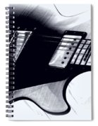 Guitar - Black And White Spiral Notebook