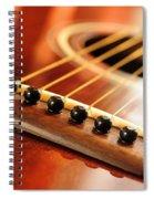 Guitar Bridge Spiral Notebook