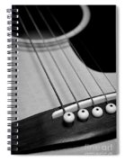 Guitar Bridge In Black And White Spiral Notebook
