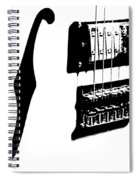 Guitar Graphic In Black And White  Spiral Notebook