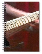 Guitar In Action Spiral Notebook