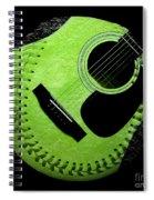 Guitar Keylime Baseball Square  Spiral Notebook