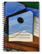Guitar On A Table Spiral Notebook