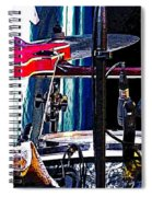 10261 Seasick Steve's Guitar On Drum Spiral Notebook