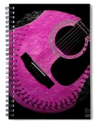 Guitar Raspberry Baseball Spiral Notebook