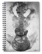 Guitar Siren In Black And White Spiral Notebook