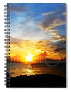 Guitar Sunset - Guitars By Sharon Cummings Spiral Notebook