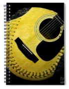 Guitar Yellow Baseball Square Spiral Notebook