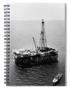 Gulf Of Mexico Oil Rig, 1950 Spiral Notebook