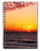 Gulf Sunset Spiral Notebook