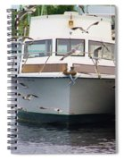 Gulls And Boat Spiral Notebook