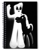 Gumby And Pokey B F F Black White Spiral Notebook