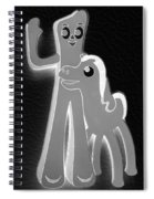 Gumby And Pokey B F F In Negative Black And White Spiral Notebook