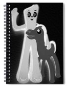 Gumby And Pokey B F F In Negative B W  Spiral Notebook