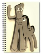 Gumby And Pokey B F F In Sepia Spiral Notebook
