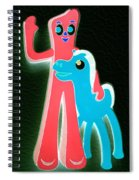 Gumby And Pokey B F F Negative Spiral Notebook