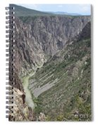 Gunnison River At The Base Of Black Canyon Of The Gunnison Spiral Notebook