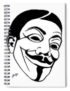 Guy Fawkes Face Original Pop Art Painting Spiral Notebook