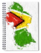 Guyana Painted Flag Map Spiral Notebook