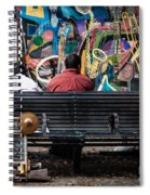Guys On A Bench - Jackson Square Spiral Notebook