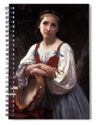 Gypsy Girl With A Basque Drum Spiral Notebook