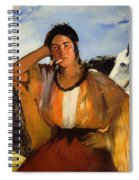 Gypsy With A Cigarette Spiral Notebook