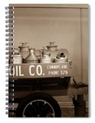 H And G Oil Company In Sepia Spiral Notebook
