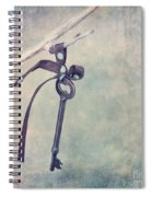 Key With A Ribbon Spiral Notebook