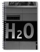 H2o In Black And White Spiral Notebook