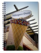 Haagen Dazs Ice Cream Signage Downtown Disneyland 01 Spiral Notebook